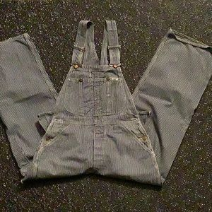 Original 1970s Lee Jeans Striped Overalls